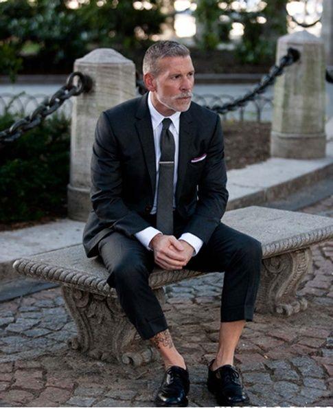 no socks -stylish gent