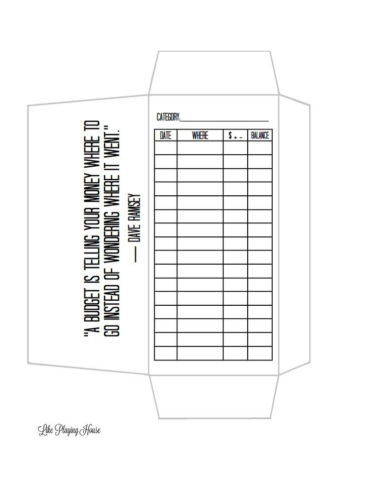 envelope budget template | Organization | Pinterest