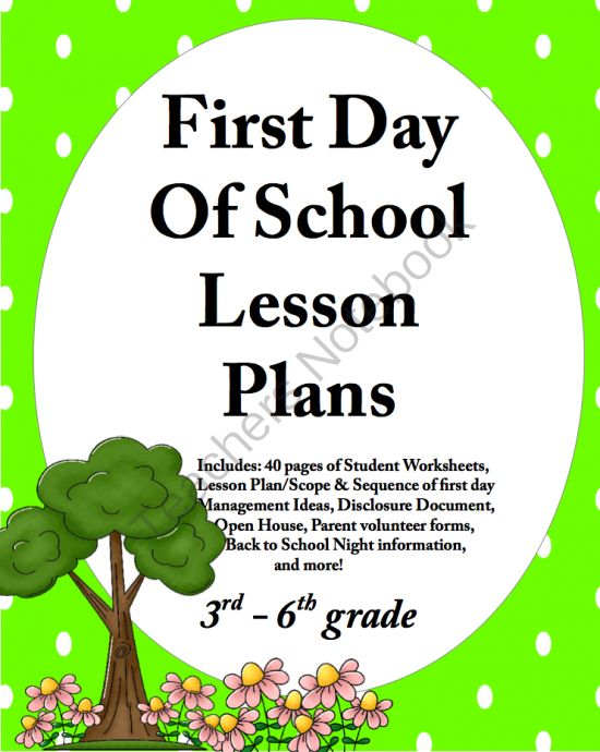 First Day of School Lesson Plans - 1st Day of ... | Classroom Managem ...