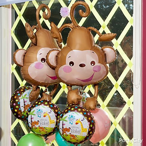 Pin by gigi smith on baby shower ideas noah 39 s ark pinterest - Monkey balloons for baby shower ...