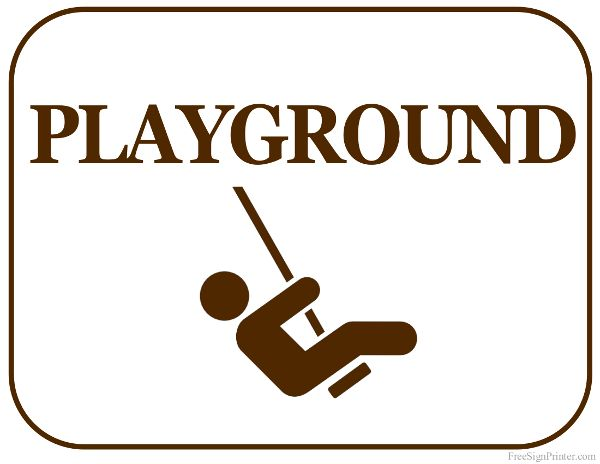 Printable Playground Sign
