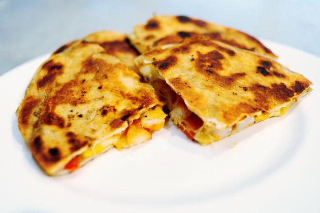Quesadillas de camarones — One of my family's absolute favorites!