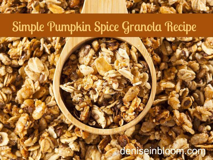 Pumpkin Spice Granola | Food: Pumpkin | Pinterest