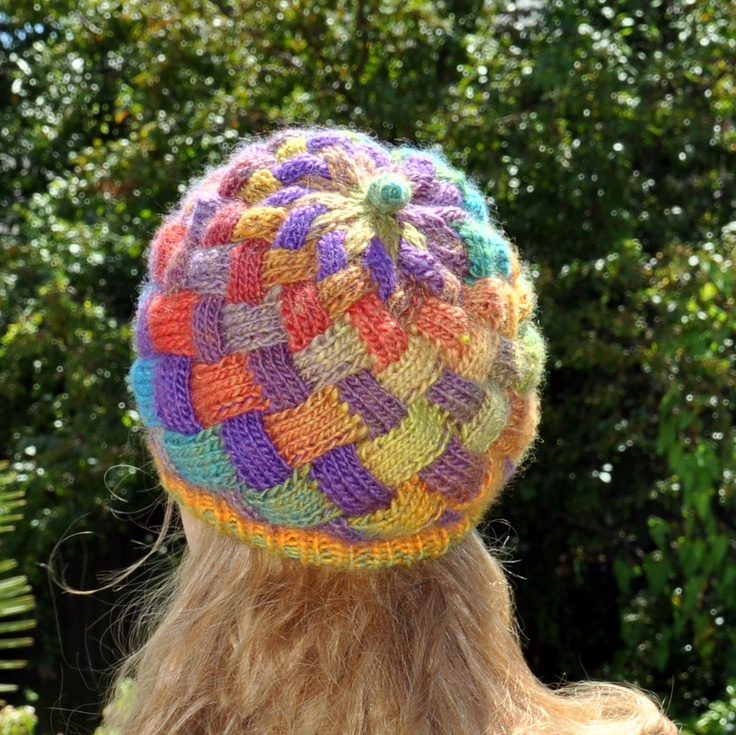 Knitting Pattern Entrelac Hat : Knitted Entrelac hat Knitting Pinterest
