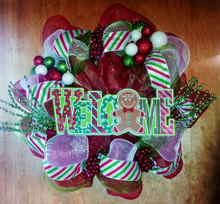 welcome christmas wreath on - photo #1