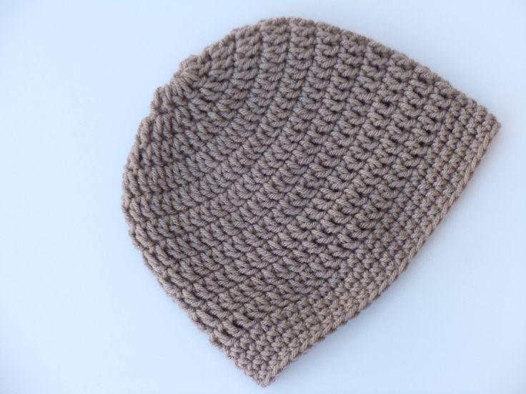 Mens Crochet Beanie Hat Pattern Brown Crochet Hat, Mens Crochet ...