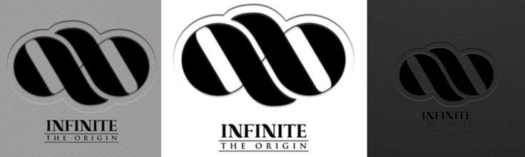 PIC  INFINITE New Logo for Instrumental Album  The Origin  in Grey    Infinite The Origin Logo