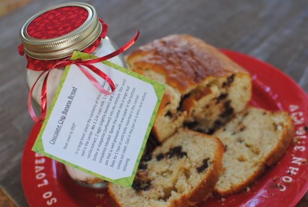Chocolate Chip Banana Bread in a Jar | DIY/Thrifty Gifts | Pinterest
