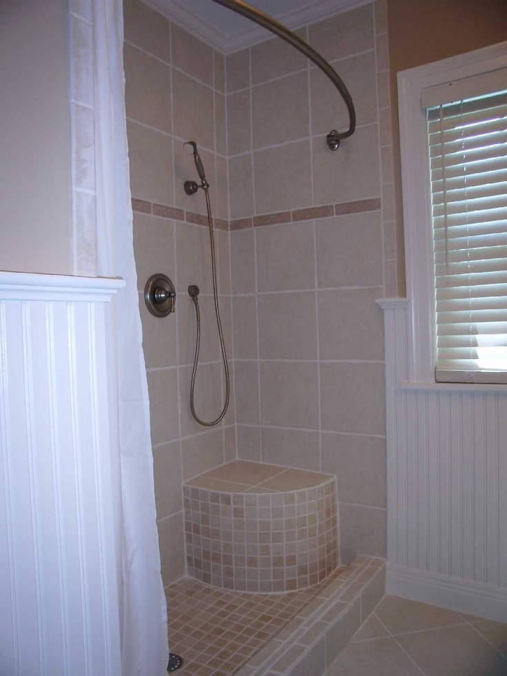 Shower with built in seat general home improvement ideas for Built in shower ideas