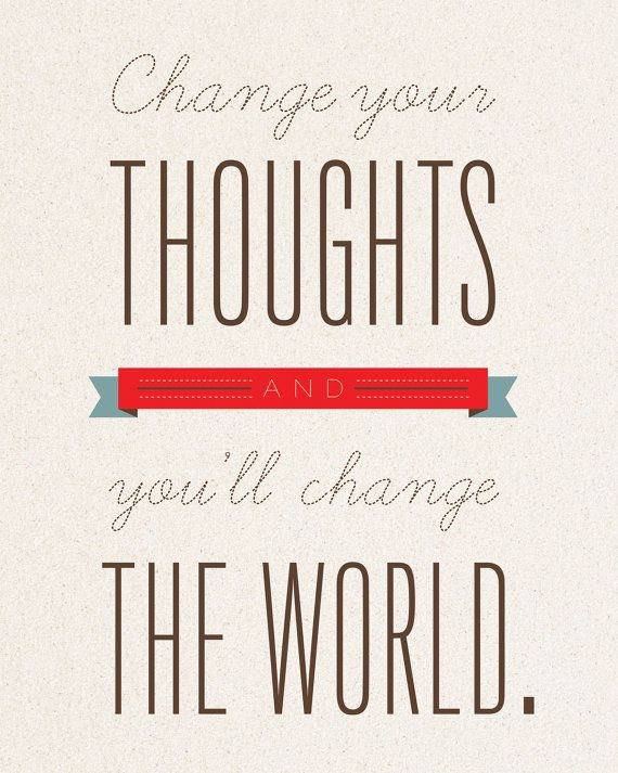 Change Your Thoughts 5x7 Inspirational Word by FreshWordsMarket,