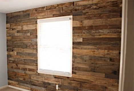 wooden pallet wall