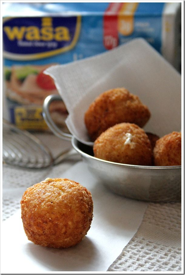 Mozzarella and Asiago Arancini | Cucina italiana | Pinterest