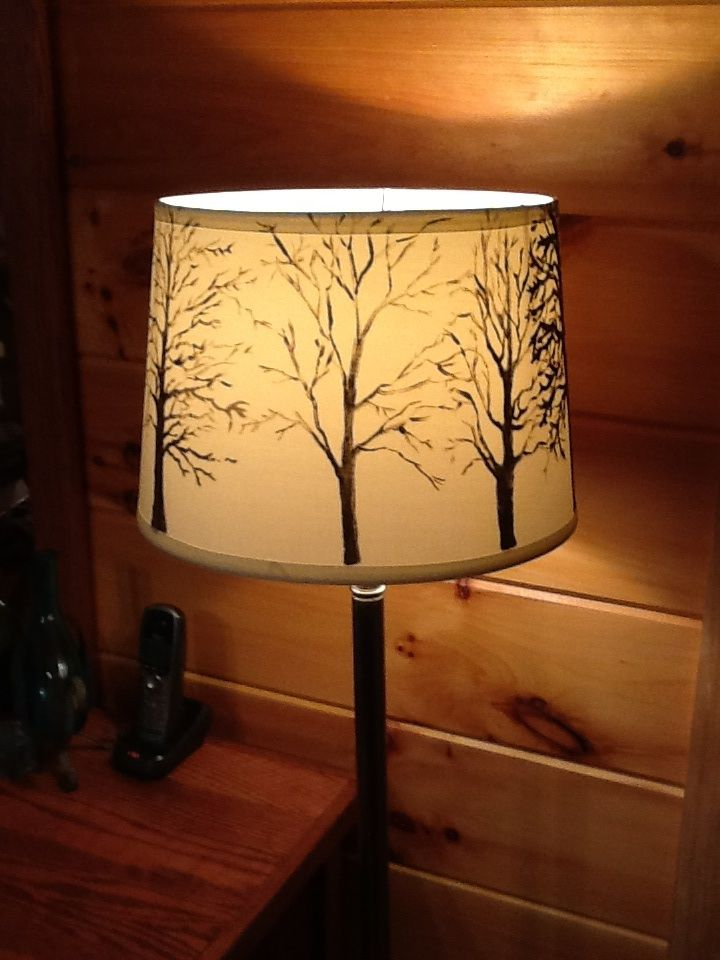 I painted a lamp shade painted furniture pinterest for Painting light shades