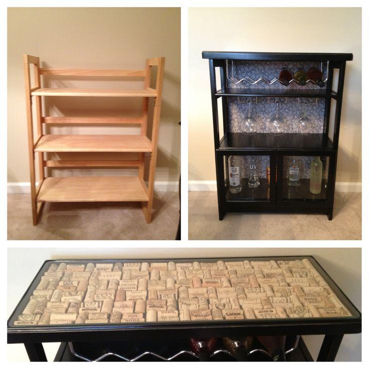 Cheap Bookcase Into Liquor Cabinet Home Ideas Pinterest