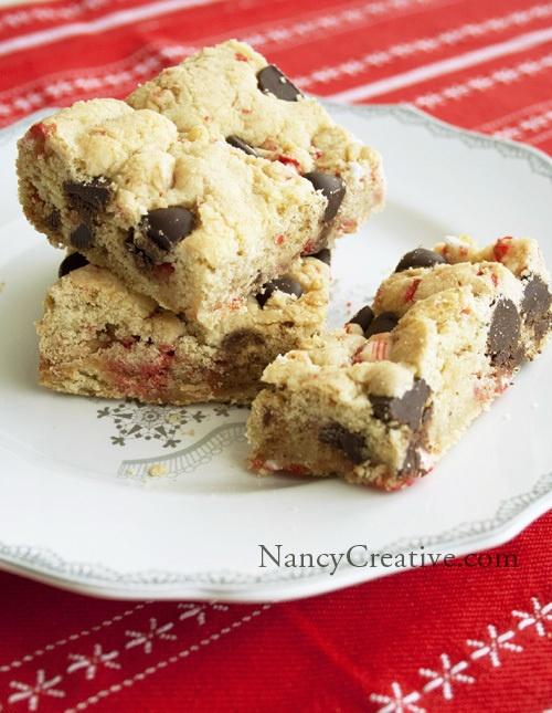 Dark Chocolate Peppermint Cookie Bars | cookies n bars | Pinterest