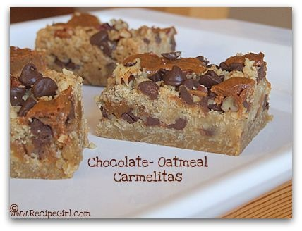 Chocolate Oatmeal Carmelitas | Favorite Recipes | Pinterest