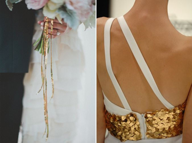 Dare to be original for your new year's wedding... love the sequins!