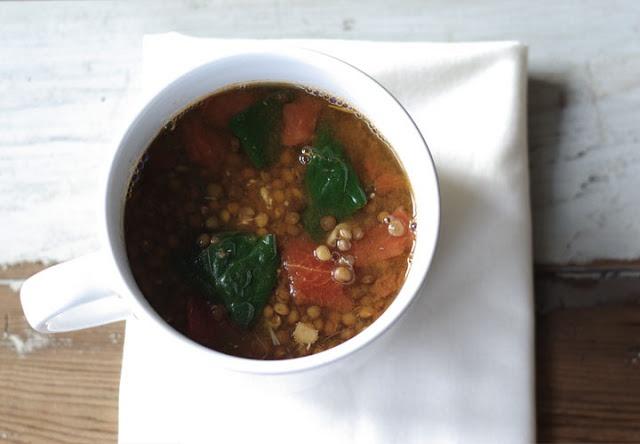 Lemon Lentil Soup with Spinach | Soups & Salads | Pinterest