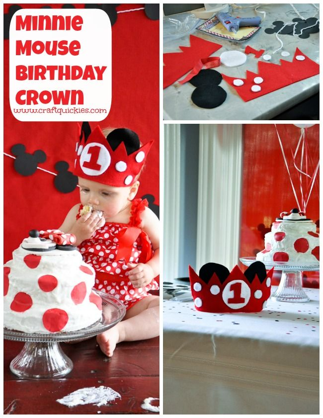 Babys First Minnie Mouse Birthday Party from Craft Quickies - So many ...