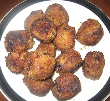 Fried Meatballs | Family tradition | Pinterest