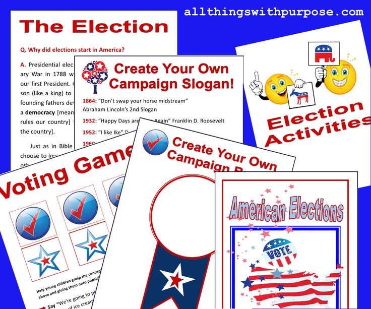 lessons for teaching second grade about elections just b cause
