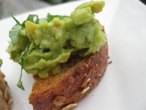 "Avocado Chickpea Bruschetta (could replace ""Nama shoyu"" with plain ..."