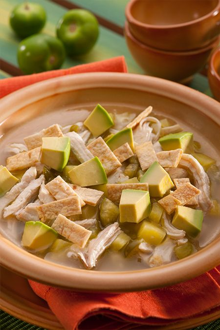 MEXICAN_CHICKEN_AND_TOMATILLO_STEW | Soups | Pinterest