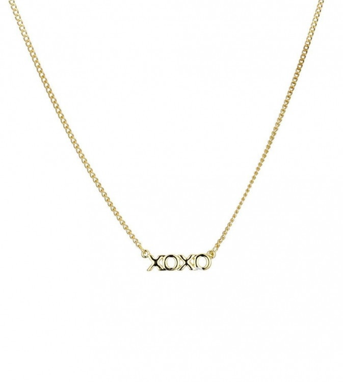 gold xoxo pendant necklace s style