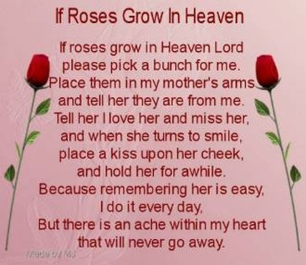 Mothers day poem for my mom who passed away my mother for Mothers day quotes for all moms