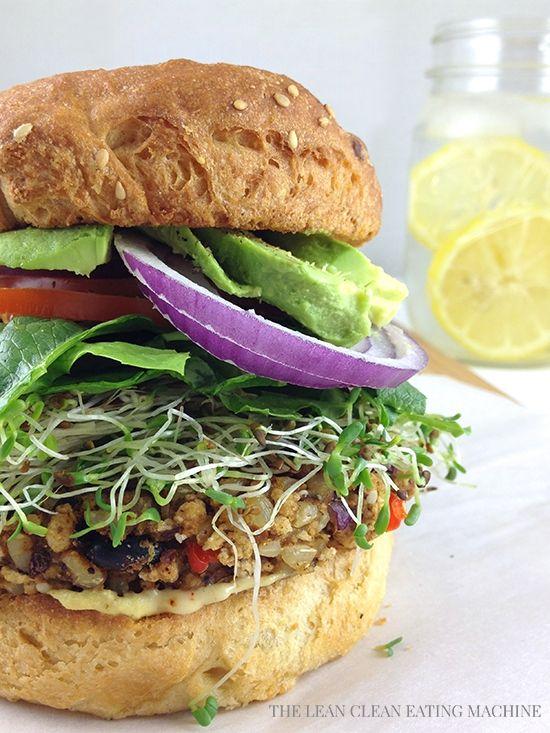 Ultimate Tri-Bean Veggie Burger   Recipe