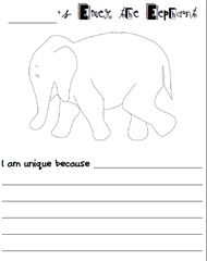 Unique like Elmer the Elephant (free) | Writing: Prompts | Pinterest