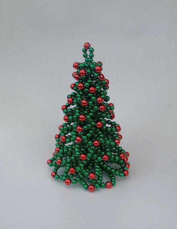 Christmas Tree Table Christmas Tree Beaded Christmas Tree
