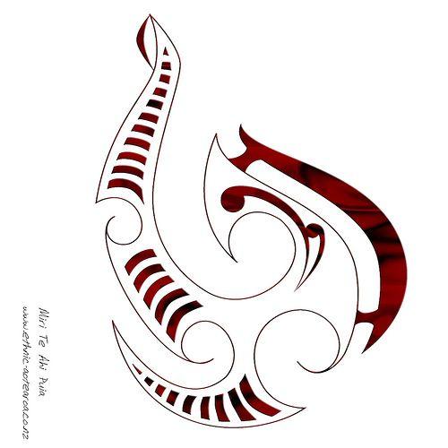 Maori Fish Hook Tattoo
