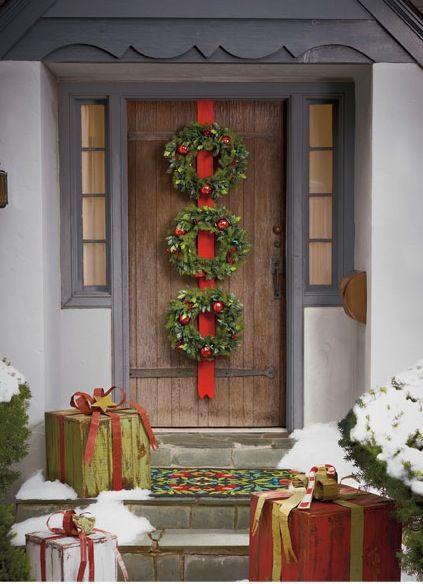 Front Door All About Christmas Pinterest