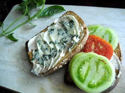 Tomato Toast with Basil Butter | Recipes | Pinterest