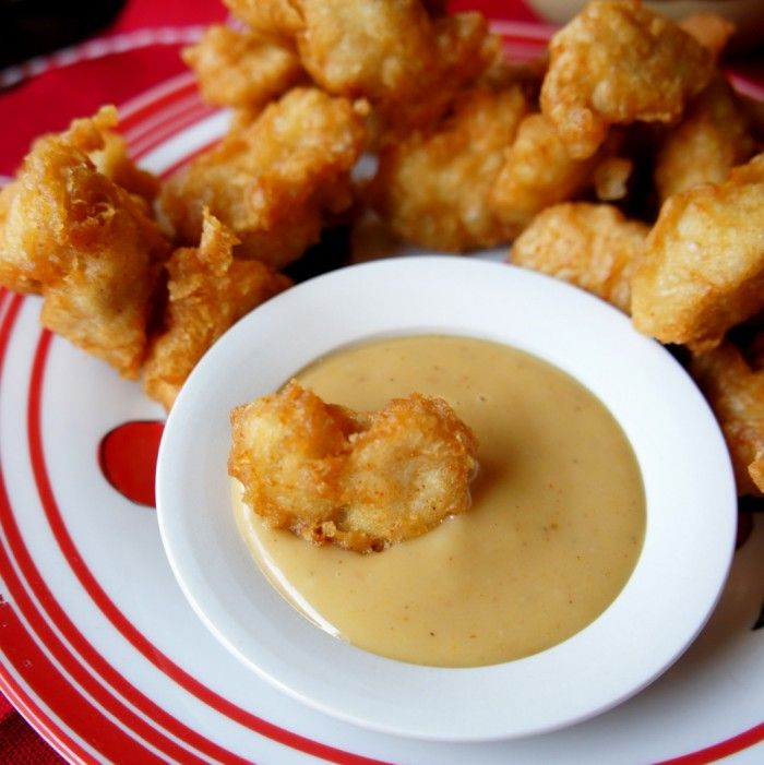 Crispy Chicken Nuggets with Chick-fil-a Sauce