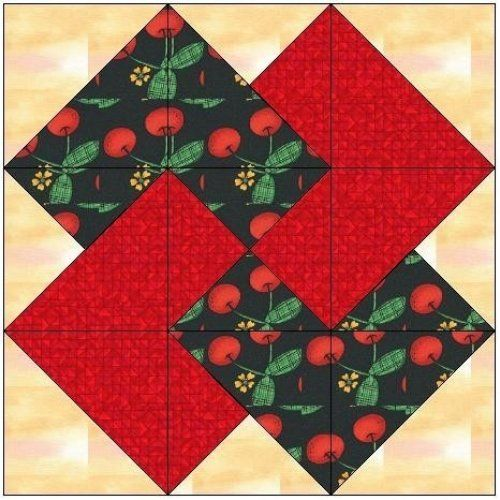 Quilting Pattern Card Trick Block : All stitches - card trick paper piecing quilt block pattern .pdf -093a