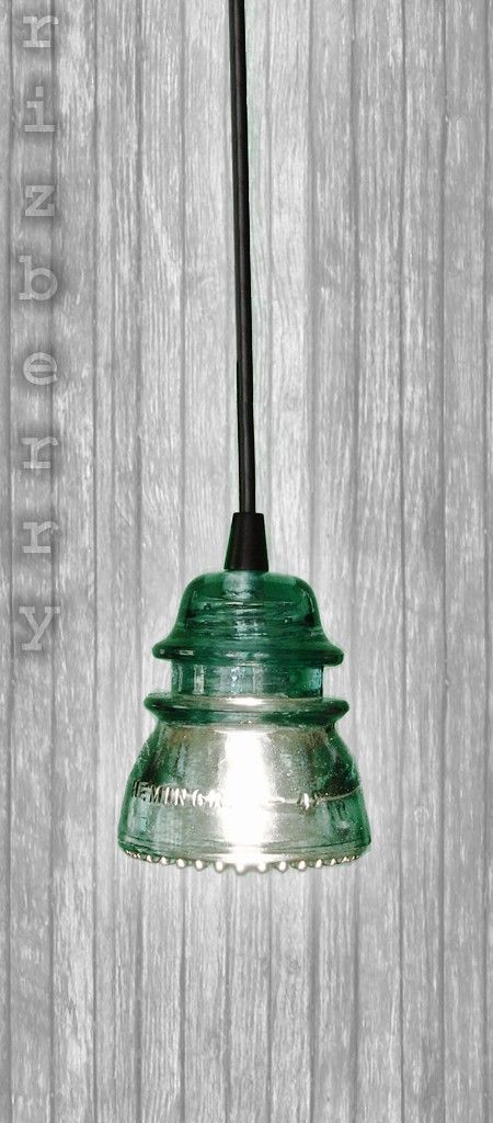 repurposed glass insulator pendant light. Black Bedroom Furniture Sets. Home Design Ideas