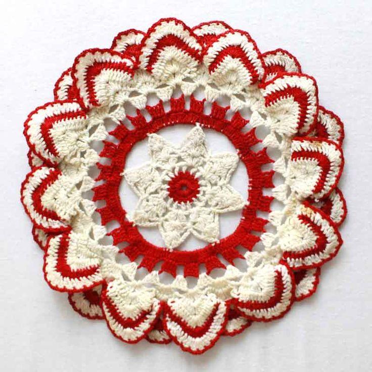 Maggies Crochet ? Vintage Ripple Edged Doily Crochet Pattern