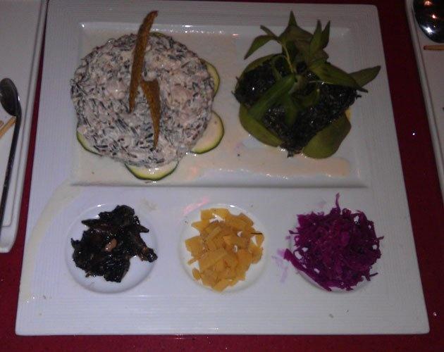 one of my fav restaurants - Au Lac - Mermaid (black noodle seaweed ...