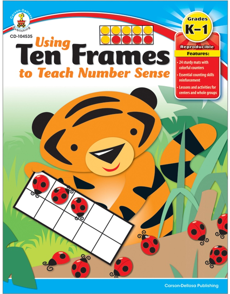 Using Ten Frames to Teach Number Sense is a great way to reinforce number understanding and relationships!