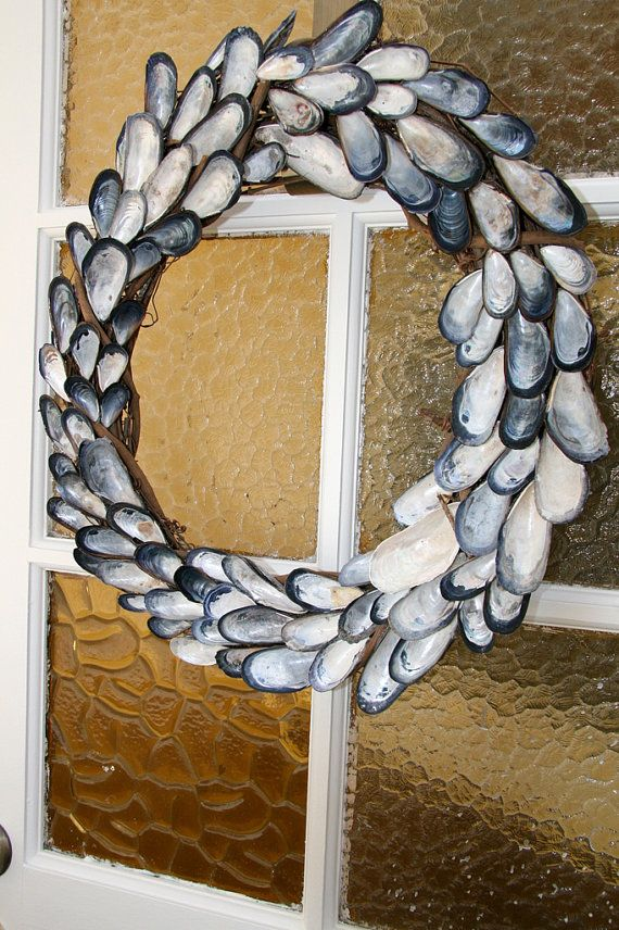 Nautical Seashell Wreath Summer Home Decor Beach Wedding Decorati