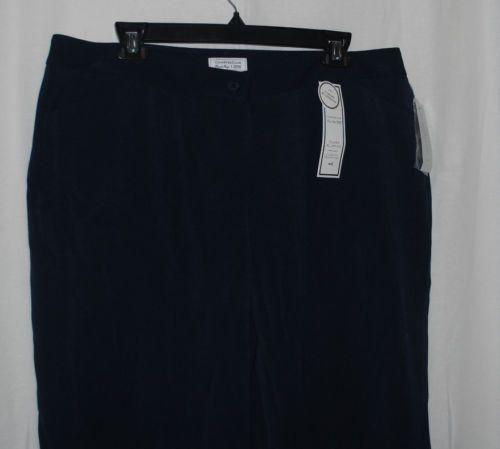 Charter Club NEW Tummy Slimming Navy Blue Classic Straight Leg Pants