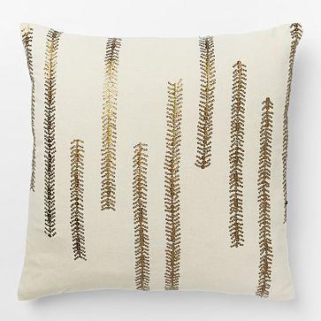 Sequin Fern Pillow Cover #westelm
