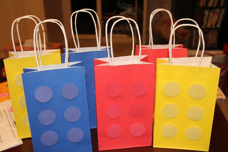 Goody bags lego goodie bags lego favor bags lego bags lego party