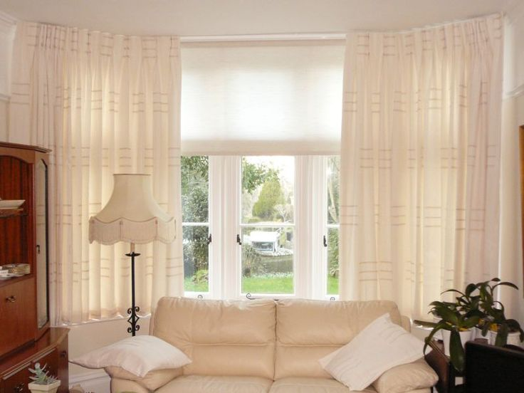 Blinds and Curtains Together: Amusing Bay Window Curtains And Blinds ...