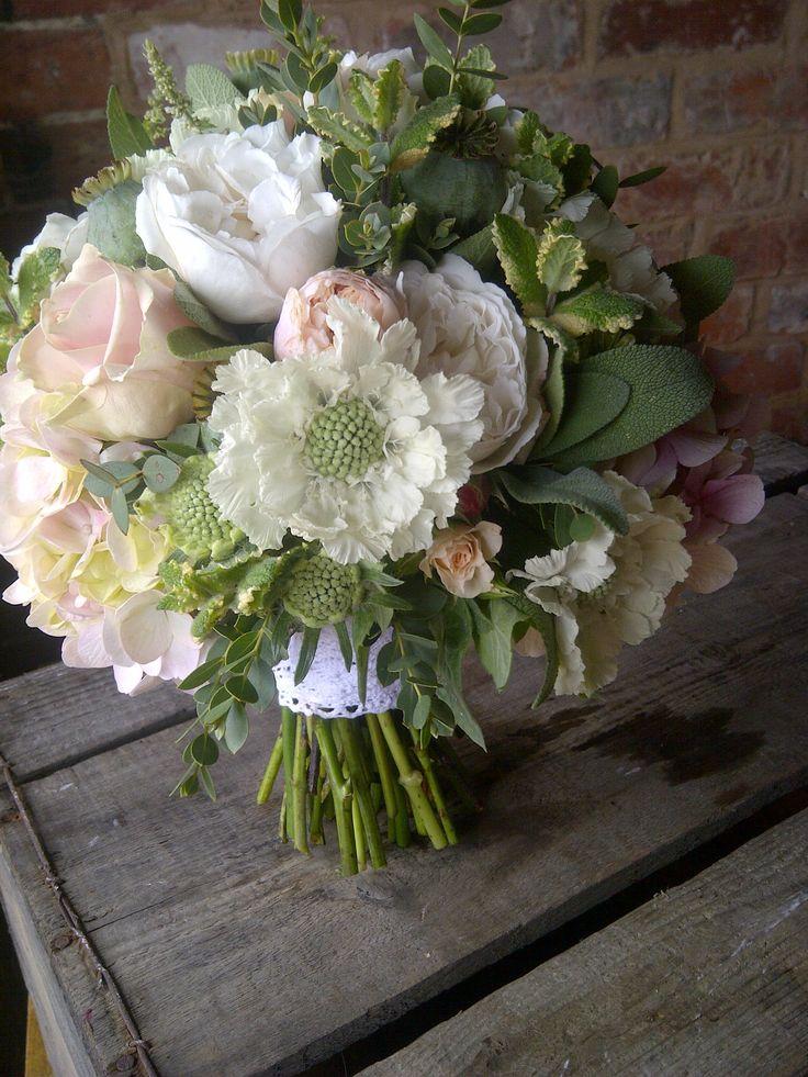 White Wedding Flowers In September : September wedding bouquet by catkin