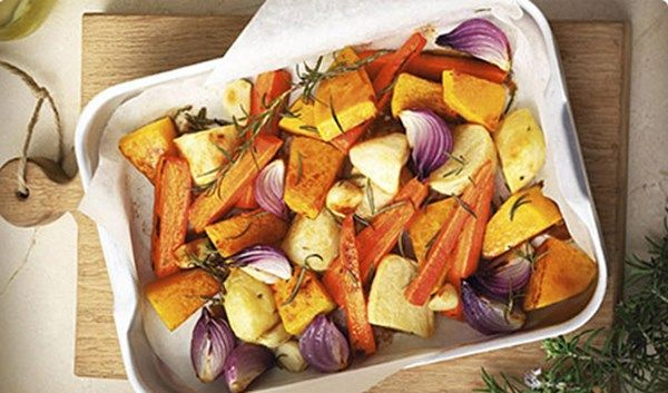 Easy Rosemary & Garlic Roasted Vegetables with Campbell's Real Stock