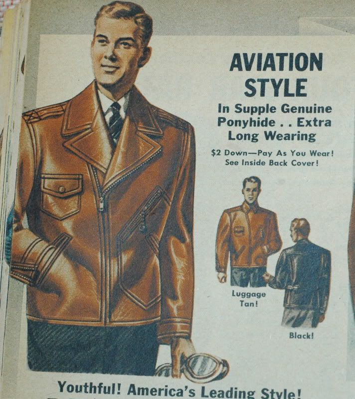 Early Zippered Aviation Leather Jacket. This style became the standard