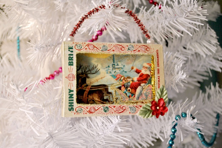 Vintage Christmas upcycling -> Vintage Möbel Upcycling